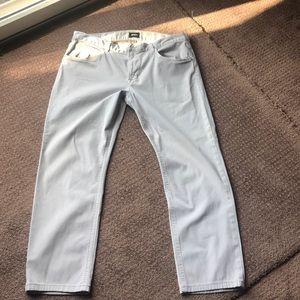 Hudson Blake slim straight beige jeans